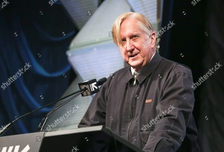 T Bone Burnett gives a keynote during the South by Southwest Music Festival at the Austin Convention Center, in Austin, Texas