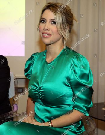 Wife and procurator of FC Inter's forward Mauro Icardi, Wanda Nara, attends the award ceremony for the Socrate Prize in Milan, Italy, 13 March 2019.