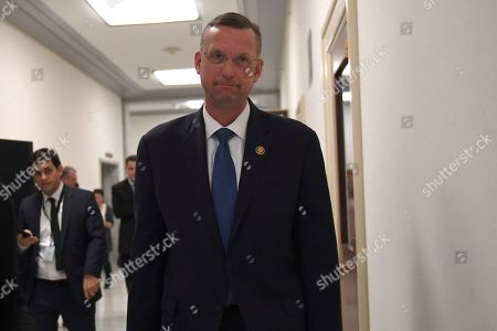 House Judiciary Committee ranking member Rep. Doug Collins, R-Ga., walks after meeting with former Acting Attorney General Matthew Whitaker on Capitol Hill in Washington