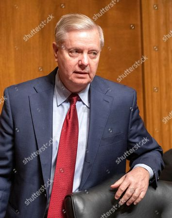 United States Senator Lindsey Graham (Republican of South Carolina), Chairman, United States Senate Committee on the Judiciary, arrives to hear testimony from Daniel P. Collins and Kenneth Kiyul Lee on their nominations to be United States Circuit Judge For The Ninth Circuit on Capitol Hill