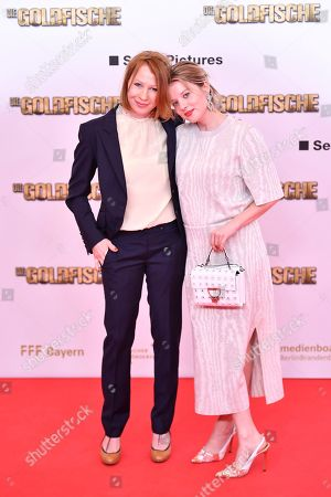 Stock Photo of Actresses Birgit Minichmair (L) and Jella Haase arrive for the premiere of 'Die Goldfische' (lit.: The Goldfish) in Munich, Germany, 13 March 2019. The movie opens in German theaters on 21 March.