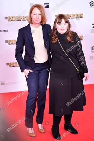Stock Photo of Birgit Minichmayr (L) and Luisa Woellisch arrive for the premiere of 'Die Goldfische' (lit.: The Goldfish) in Munich, Germany, 13 March 2019. The movie opens in German theaters on 21 March.
