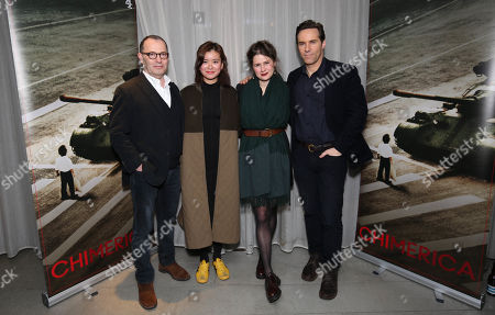 (L-R) Colin Callender (Exec Producer), Katie Leung (Actor), Lucy Kirkwood (writer&Exec Producer) and Alessandro Nivola (Lead Actor)