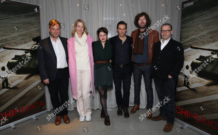 Stock Photo of (L-R)Adrian Sturges(Producer), Sophie Gardiner (Exec. producer), Lucy Kirkwood, Alessandro Nivola (Lead Actor), Michael Keillor (Director and Colin Callender (Exec Producer).