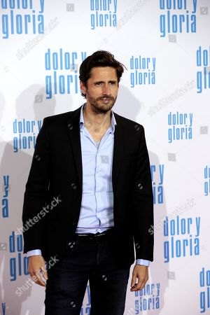 Juan Diego Botto attends the premiere of 'Dolor y gloria' (Pain and Glory) at the Capitol Cinemas in Madrid, 13 March 2019. The movie opens in Spanish theaters on 22 March.