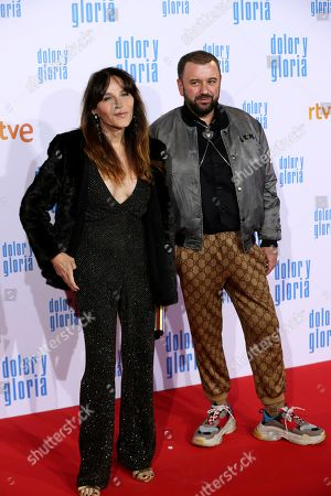 Antonia San Juan (L) and guest attend the premiere of 'Dolor y gloria' (Pain and Glory) at the Capitol Cinemas in Madrid, 13 March 2019. The movie opens in Spanish theaters on 22 March.