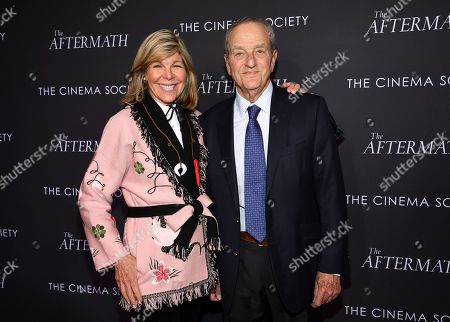 """Jamee Gregory, Peter Gregory. Jamee Gregory, left, and husband Peter Gregory attend a special screening of Fox Searchlight Pictures' """"The Aftermath"""" at The Whitby Hotel, in New York"""