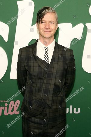 """John Cameron Mitchell attends the premiere of Hulu's """"Shrill"""" at the Walter Reade Theater, in New York"""