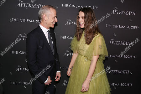 Stock Photo of James Kent (Director) and Keira Knightley