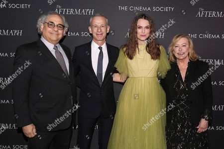 Stock Photo of Steve Gilula, James Kent (Director), Keira Knightley and Nancy Utley