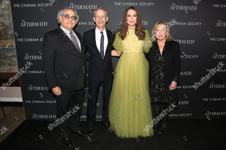 Stock Picture of Steve Gilula, James Kent (Director), Keira Knightley and Nancy Utley