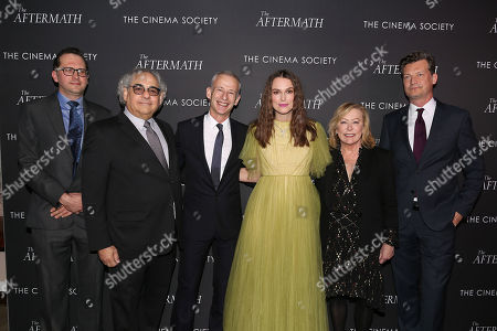 Jack Arbuthnott, Steve Gilula, James Kent (Director), Keira Knightley, Nancy Utley and Malte Grunert