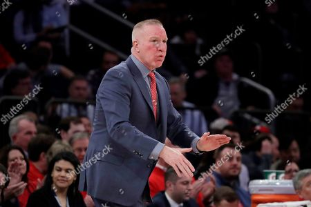 St. John's coach Chris Mullin reacts during the first half of the team's NCAA college basketball game against St. John's in the Big East men's tournament, in New York