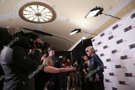 Jose Feliciano, right, attends the Library of Congress Gershwin Prize tribute concert held at DAR Constitution Hall, in Washington