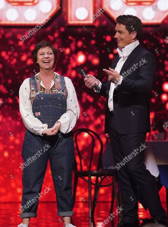 Tessa Peake-Jones and John Barrowman