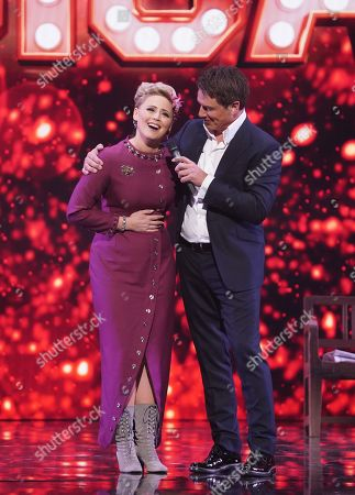 Amy Hughes and John Barrowman