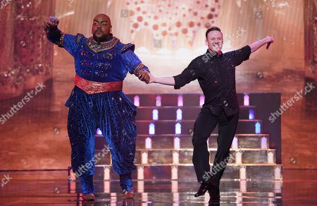 Stock Image of The Genie [Trevor Dion Nicholas] and Kevin Clifton