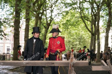 Stock Image of Peter Bowles as Duke Of Wellington and Tom Hughes as Prince Albert.