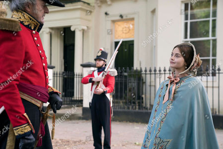 JENNA COLEMAN as Queen Victoria and Peter Bowles as Duke Of Wellington.