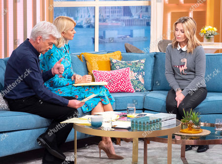 Phillip Schofield and Holly Willoughby with Alex Hollywood