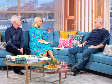 Stock Photo of Phillip Schofield and Holly Willoughby with Ed Stafford