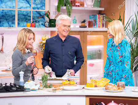 Stock Picture of Holly Willoughby and Phillip Schofield with Alex Hollywood