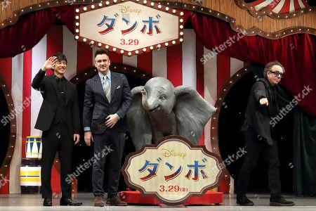 Hidetoshi Nishijima, Colin Farrell, Tim Burton