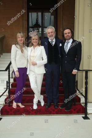 Twiggy with her husband Leigh Lawson, son Jason and daughter Carly Lawson