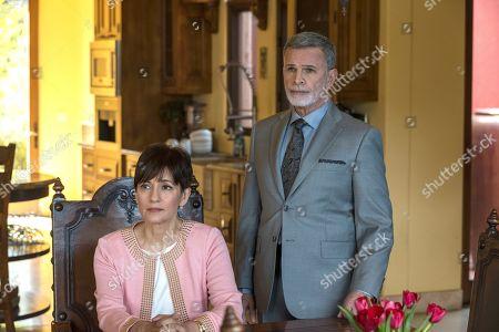 Stock Picture of Ada Maris as Dita Galindo and Tony Plana as Devante