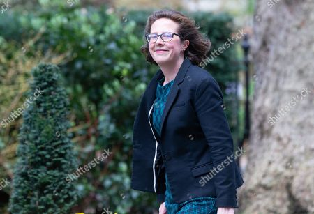 Baroness Evans of Bowes Park, Leader of the House of Lords, arrives for the Cabinet meeting.