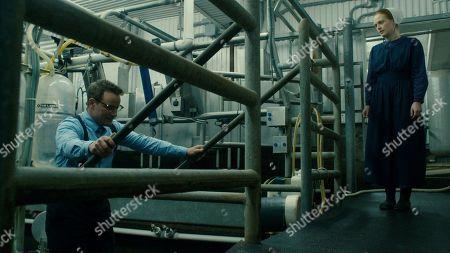 Ryan Robbins as Noah Funk and Alex Paxton-Beesley as Anna Funk
