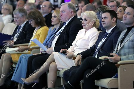 President of the European Committee of the Regions Karl-Heinz Lambertz (C-L) and Romanian Prime Minister Viorica Dancila (C-R) attend the opening session of the 8th European Summit of Regions and Cities called '(Re)New - EUrope' held at the Romanian parliament Headquarters in Bucharest, Romania, 14 March 2019. The 8th European Summit of Regions and Cities is gathering all the EU national, local and regional leaders from across Europe to discuss the future of the European Union. According to the schedule, at the end of the summit a declaration by local and regional leaders on the future of Europe will be adopted in order to share their voice ahead of the European elections.