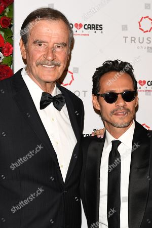 Stock Picture of Vicente Fox and Marc Anthony