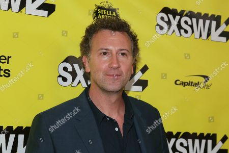 """Stock Photo of Jonathan Goldstein arrives for the world premiere of """"Stuber"""" at the Paramount Theatre during the South by Southwest Film Festival, in Austin, Texas"""