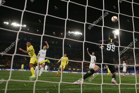 Carlos Bacca of Villarreal scores the 2nd goal