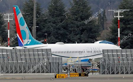 Boeing 737 MAX aircraft grounded Fotos de stock (exclusivo