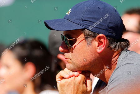 Fabrice Santoro, coach of Milos Raonic of Canada