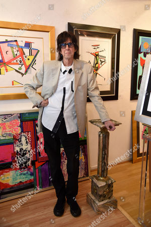 Stock Picture of Rick Ocasek attends a media event prior to his art show 'Abstract Reality' at Wentworth Gallery on in Fort Lauderdale, Fla