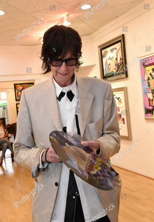 Stock Photo of Rick Ocasek attends a media event prior to his art show 'Abstract Reality' at Wentworth Gallery on in Fort Lauderdale, Fla