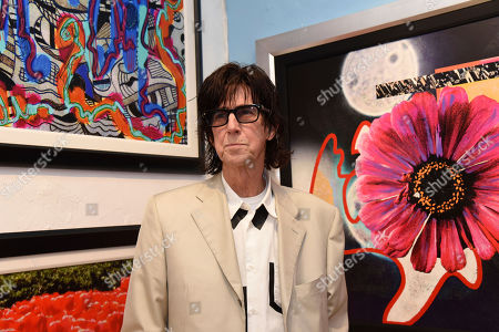 Rick Ocasek attends a media event prior to his art show 'Abstract Reality' at Wentworth Gallery on in Fort Lauderdale, Fla