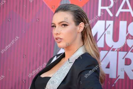 Lele Pons arrives at the iHeartRadio Music Awards, at the Microsoft Theater in Los Angeles
