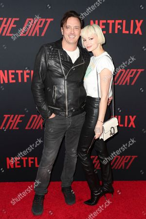 Stock Picture of Donovan Leitch and Libby Mintz