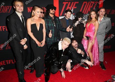 Douglas Booth, Leven Rambin, Vince Neil, Nikki Sixx, Iwan Rheon, Mick Mars, guests, Machine Gun Kelly and Tommy Lee