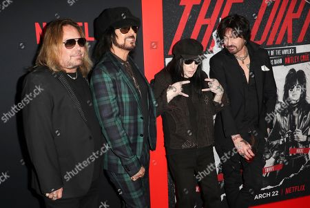 Vince Neil, Nikki Sixx, Mick Mars and Tommy Lee