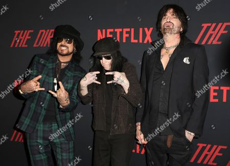 Nikki Sixx, Mick Mars and Tommy Lee