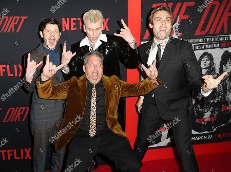 Iwan Rheon, Machine Gun Kelly, Douglas Booth and Jeff Tremaine