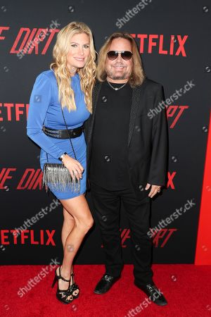 Stock Image of Rain Andreani and Vince Neil