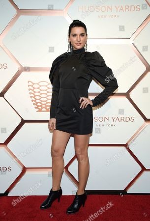 Stock Image of Michele Hicks attends the grand opening of the Shops & Restaurants at Hudson Yards, in New York