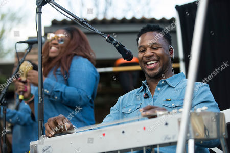 Robert Randolph and the Family Band perform at the Wrangler ICONS ô launch party at the Austin Motel on in Austin, Texas