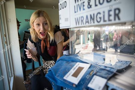 Inside the Wrangler Pop-Up Store at the event where Robert Randolph and the Family Band perform at the Wrangler ICONS ô launch party at the Austin Motel on in Austin, Texas